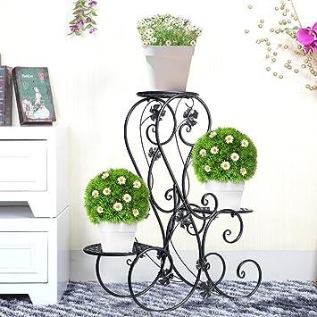Blumentreppen Metall Pflanzentreppe 71x 25 x 72cm Blumenbank belastbar bis 20 kg