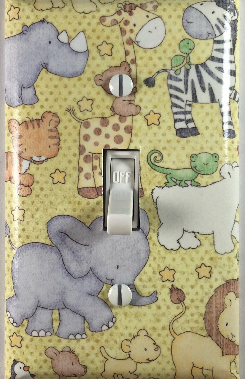 Baby Nursery Safari Animals Decorative Light Switch Cover Wall Plate