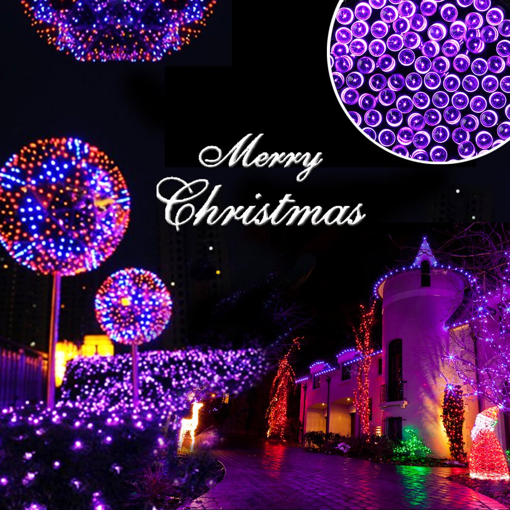 Amazon.com: Qedertek 200 LED Solar Christmas Lights, 72 ft 8 Modes ...