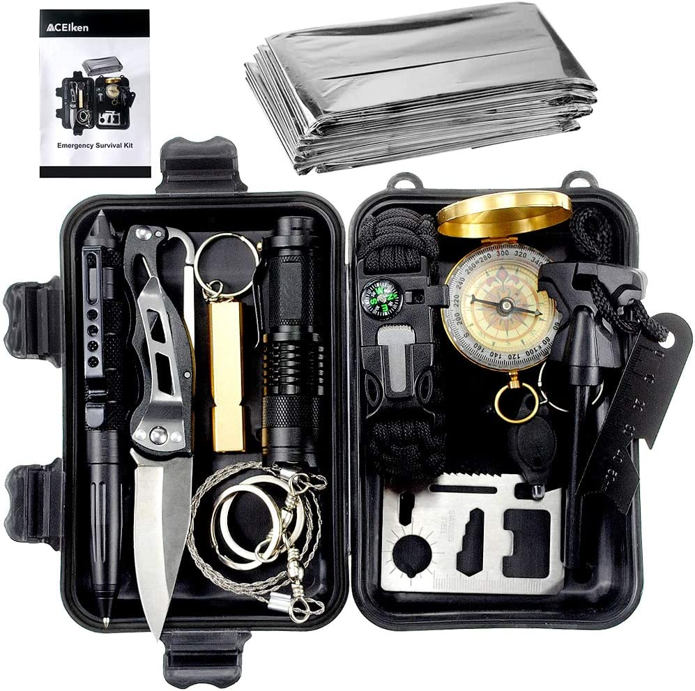 Emergency Survival Kit 13 in 1 Outdoor Survival Gear Tool