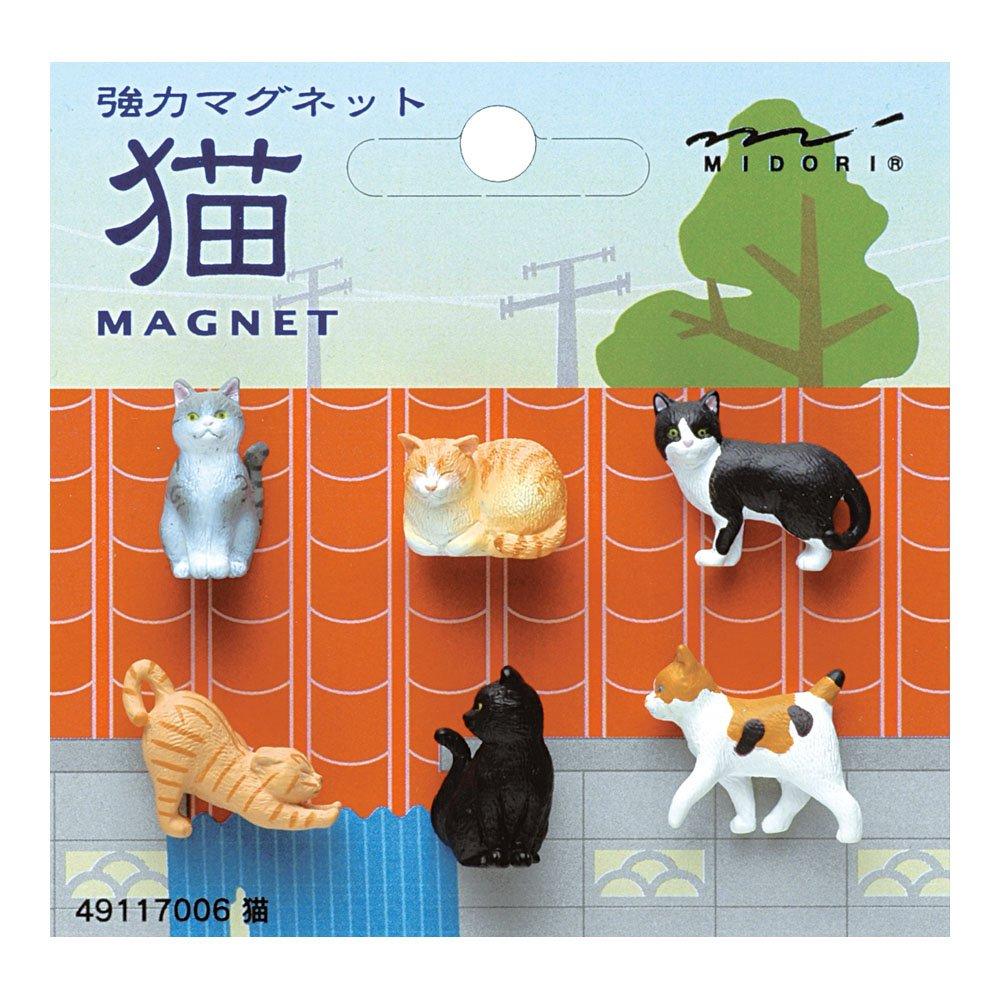 Midori OJ Mini-Magnet, Magnet Katze (49117006)