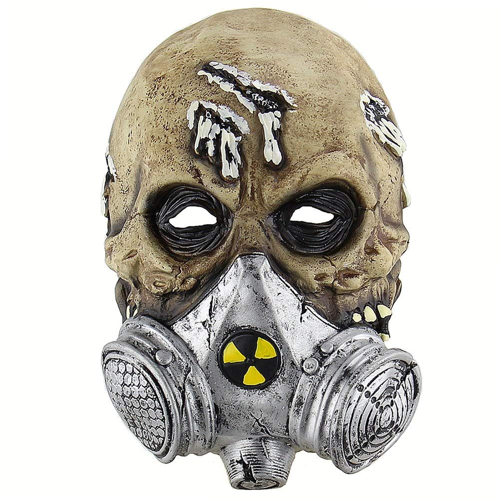 MQQ Halloween Biochemical Skull Mask Costume Party Props Latex Masks Cosplay Mask Scary Mask Head by MQQ