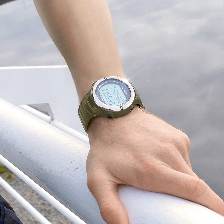 Lomo SW1/Wasserdicht Sportuhr mit Herzfrequenz Puls und Schrittz/ähler