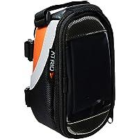 Bolsa com Porta Celular para Bicicleta Capacidade de 0,6L Impermeável com Touch Material em Poliéster e PVC Preto…