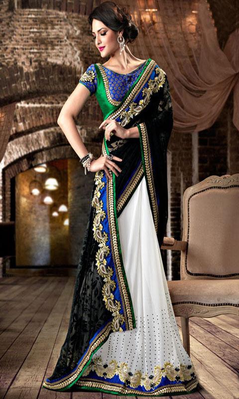 Amazon.com: Half & Half Sarees Designs For Indian Girls