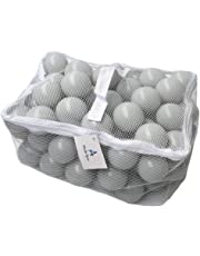 Soft Pit Balls, Chemical-Free Crush Proof Plastic Ocean Ball by Wonder Space, Phthalate & BPA Free with No Smell, Safe for Toddler Ball Pit/Kiddie Pool/Indoor Baby Playpen, Pack of 100 (Light Grey)