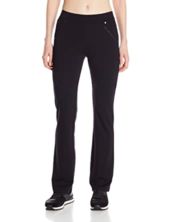068e88618a Calvin Klein Performance Women s Straight Leg Ponte Knit Pant with Back  Pockets at Amazon Women s Clothing store