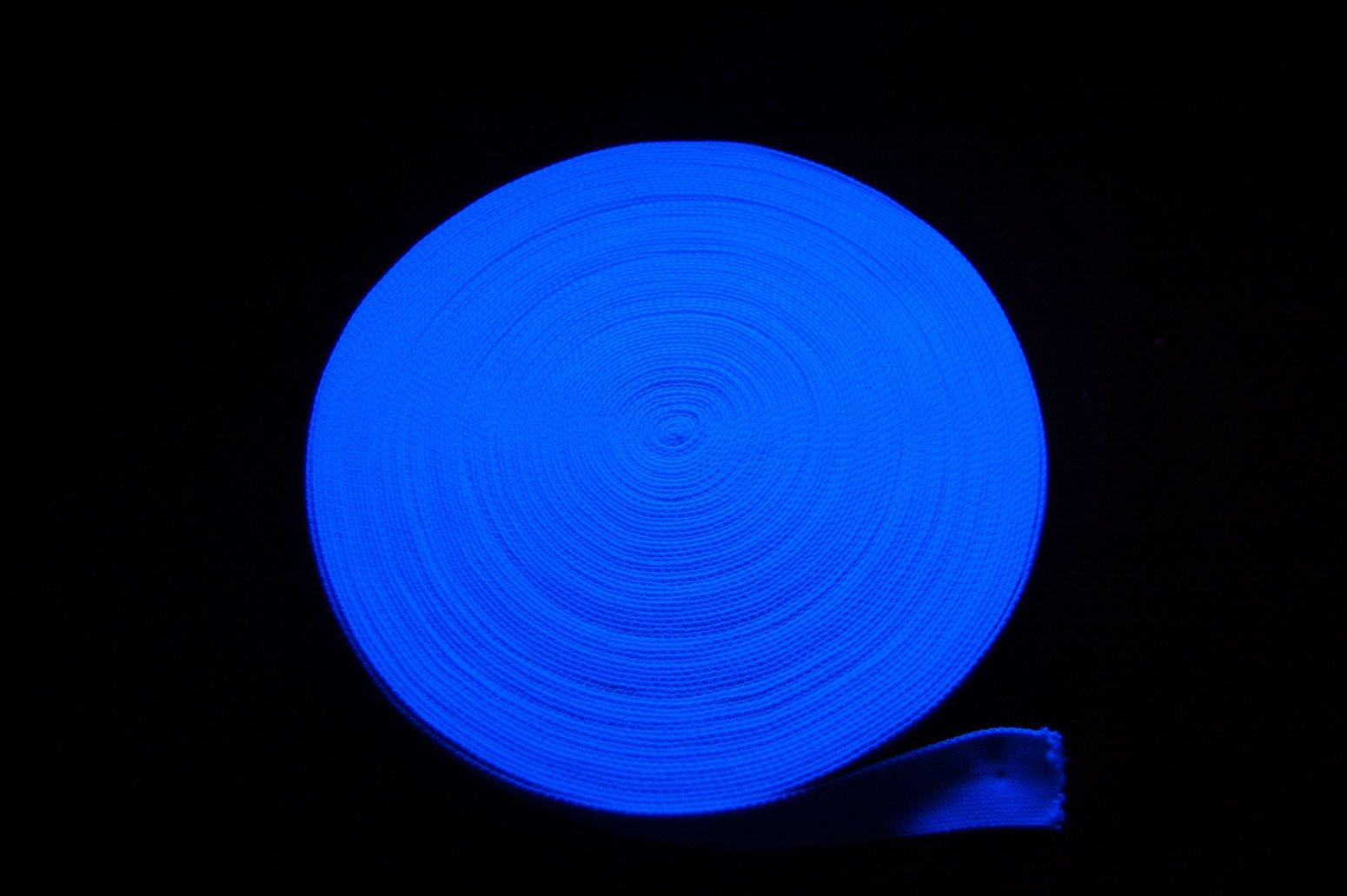 Blacklight Glo-Line Luminescent Fabric Ribbon (Blue, 160 Feet)