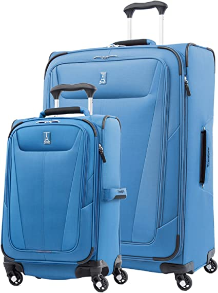Azure Lightweight Expandable Check In Hold Luggage Trolley Suitcase with 2 Wheel