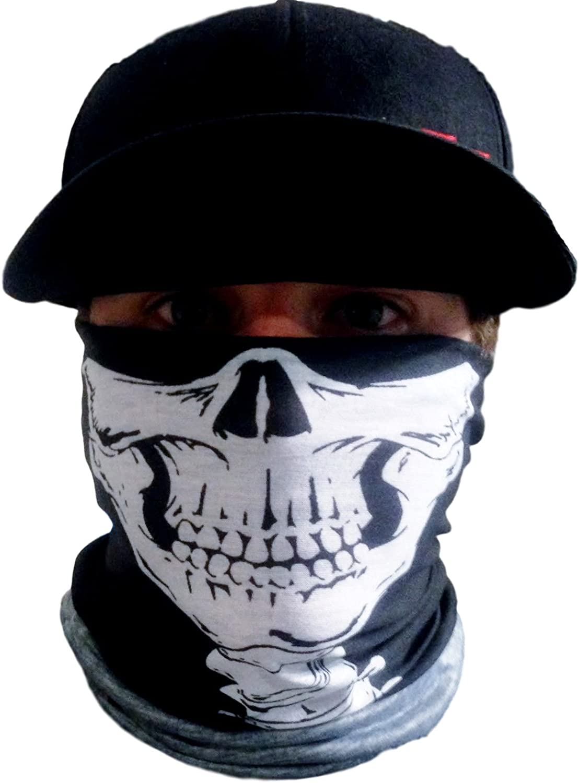 Textile Skull Neck Warmer  Motorcycle Biker