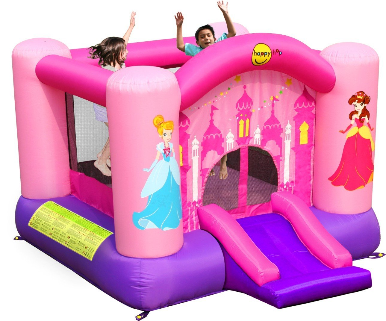 Happy Hop-9201P Princess Slide and Hoop Bouncer, Multicolor (9201P ...