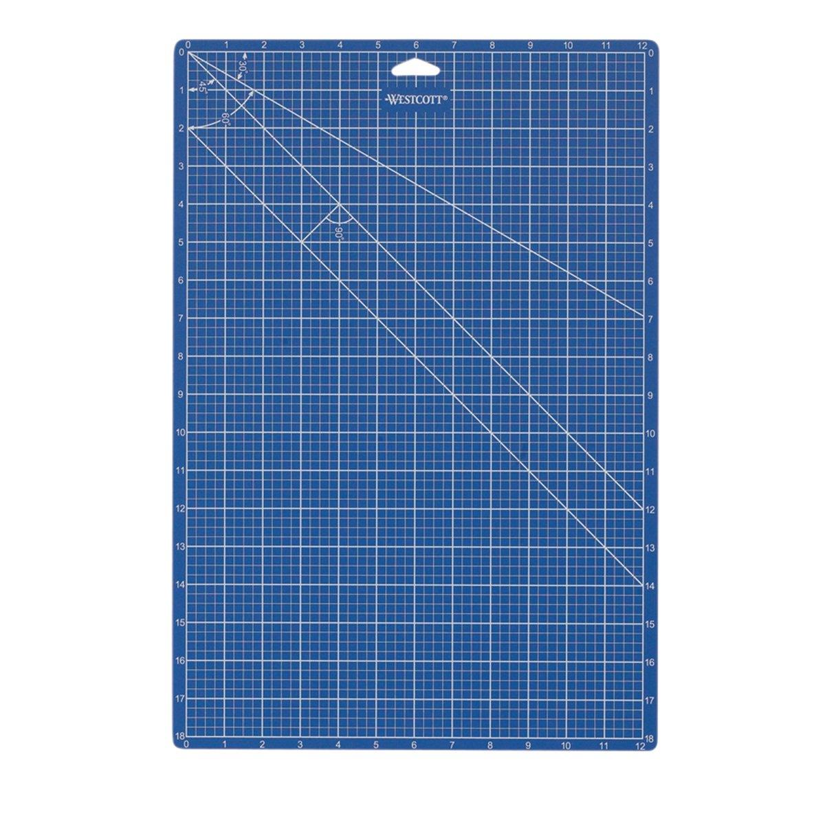 Westcott 18-Inch x 24-Inch Self-Healing Cutting Mat, Blue (18243) Acme Office Products