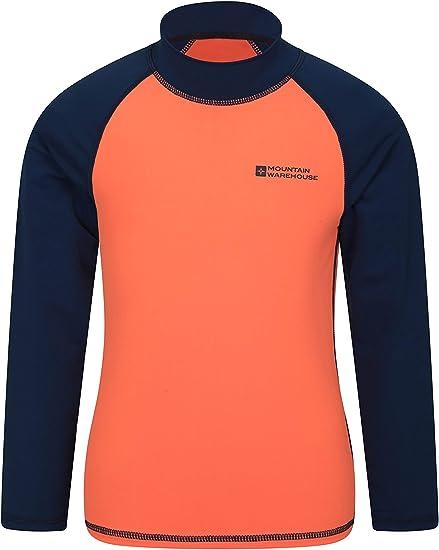 Mountain Warehouse Womens Lightweight Stretch Zip Rash Vest w// UPF50 Protection