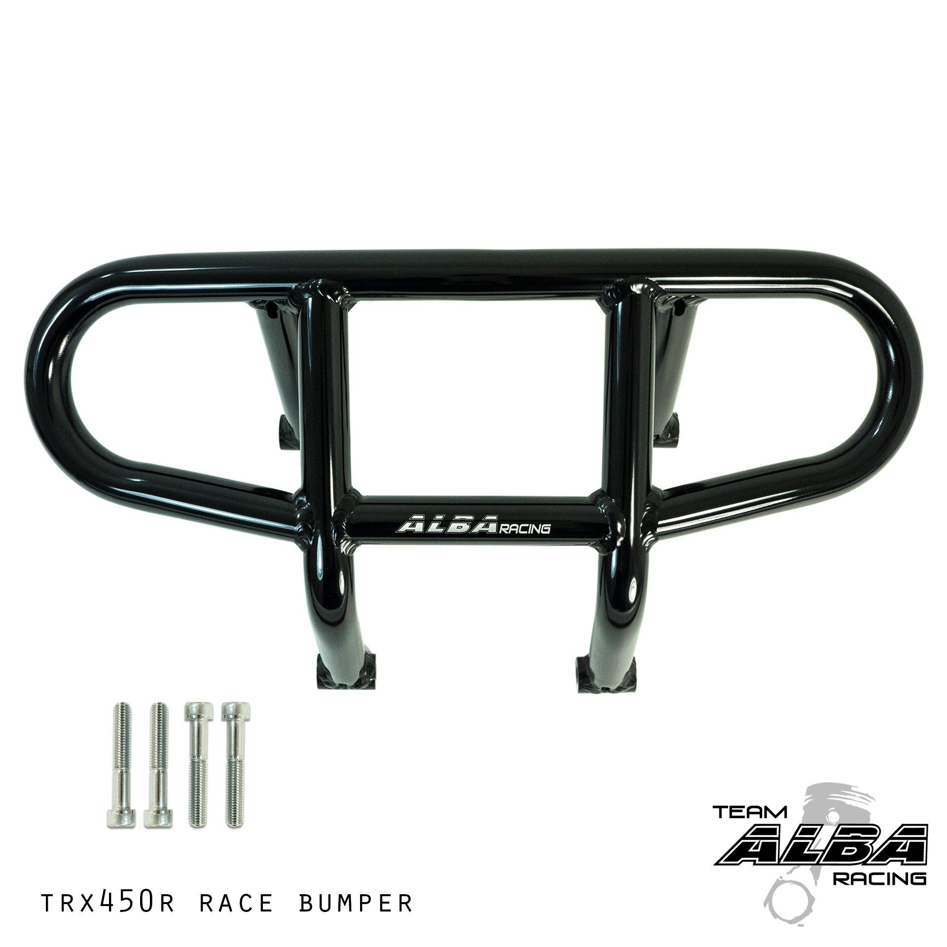 TRX 450R (2004-2014) and TRX 400EX 400X (1999-2014) Honda Compatible Front Bumper R1 - Black by Alba Racing