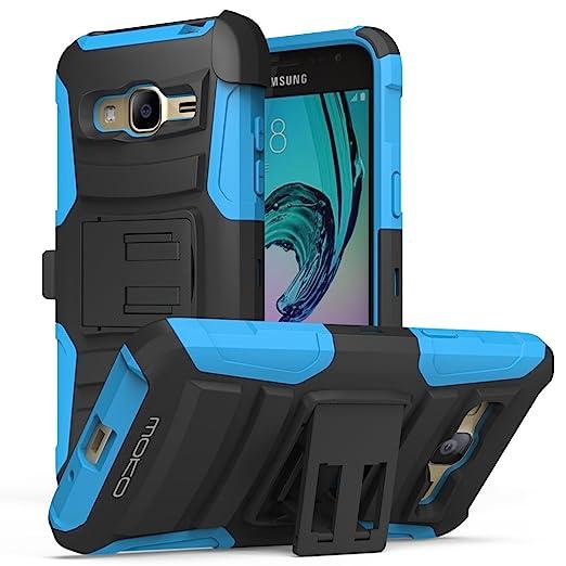 19 opinioni per MoKo Samsung Galaxy J3 Case- Holster Cover con supporto integrato con clip e