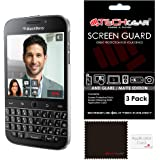 TECHGEAR [Pack of 3] ANTI GLARE Screen Protectors for Blackberry Classic (Q20) - Premium MATTE LCD Screen Protector Guard Covers Compatible with Blackberry Classic Q20