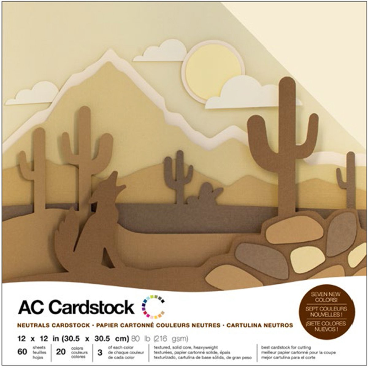 American Crafts Cardstock, 12 by 12''