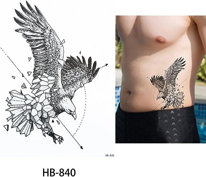 Líneas adhesivo Line Tattoo Águila Tattoo Negro hb840 Arm Tattoo ...