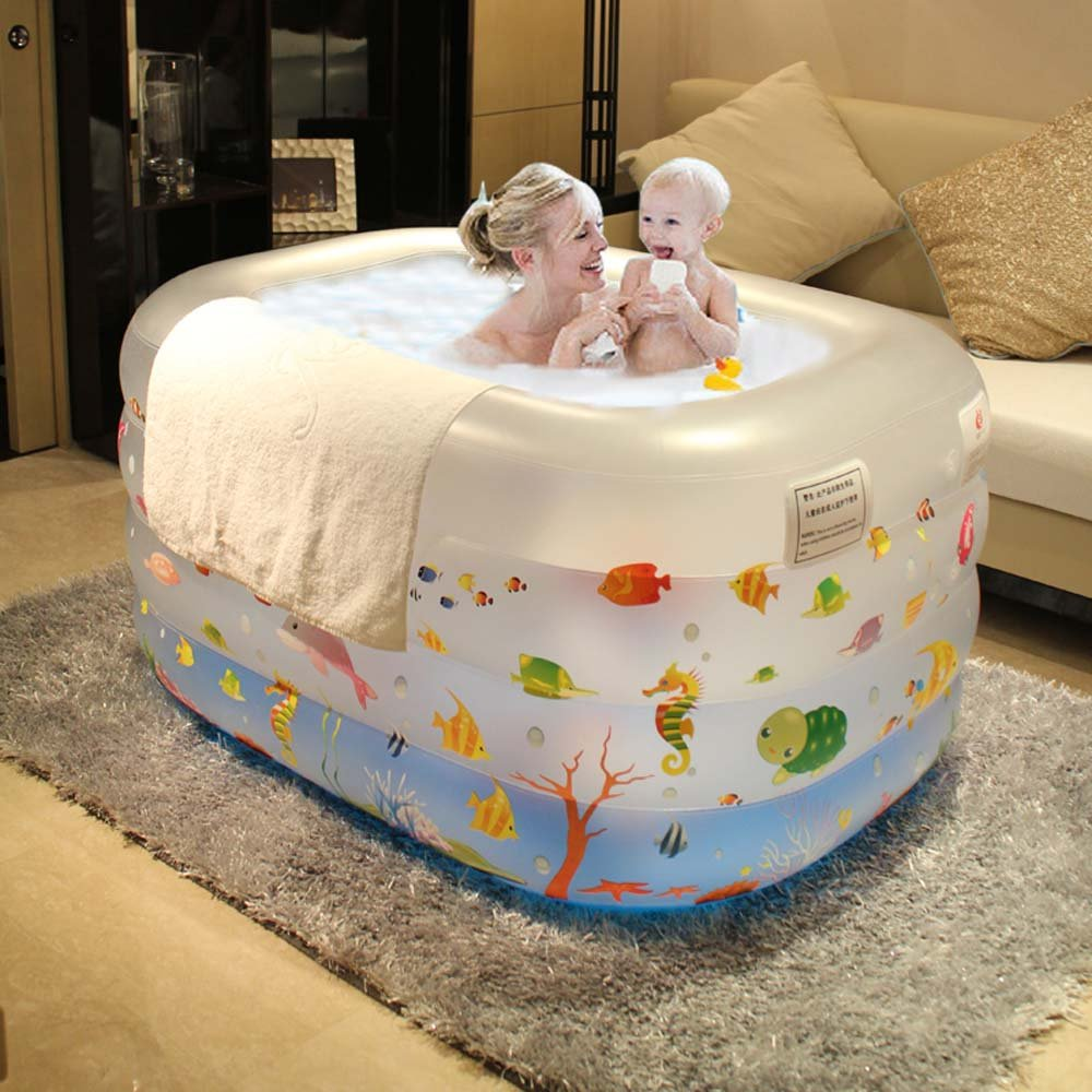 Baby Swimming Pool, Indoor Air Heating, Child Bathing Bucket, Bath Barrel, Newborn Thickening Bathtub.