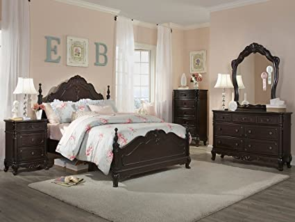 . Amazon com  Cinderella 5 PC Queen Bedroom Set with 2 Nightstand by