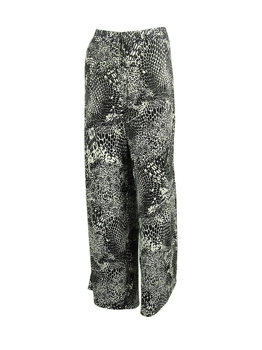 Style & Co. Women's Jersey Drawstring Waist Pants (PL, Tribal Animal)