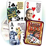 1943 Trivia Playing Cards: 75th Birthday or Anniversary Gift