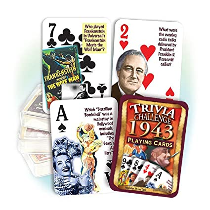 Amazon 1943 Trivia Playing Cards 75th Birthday Or Anniversary