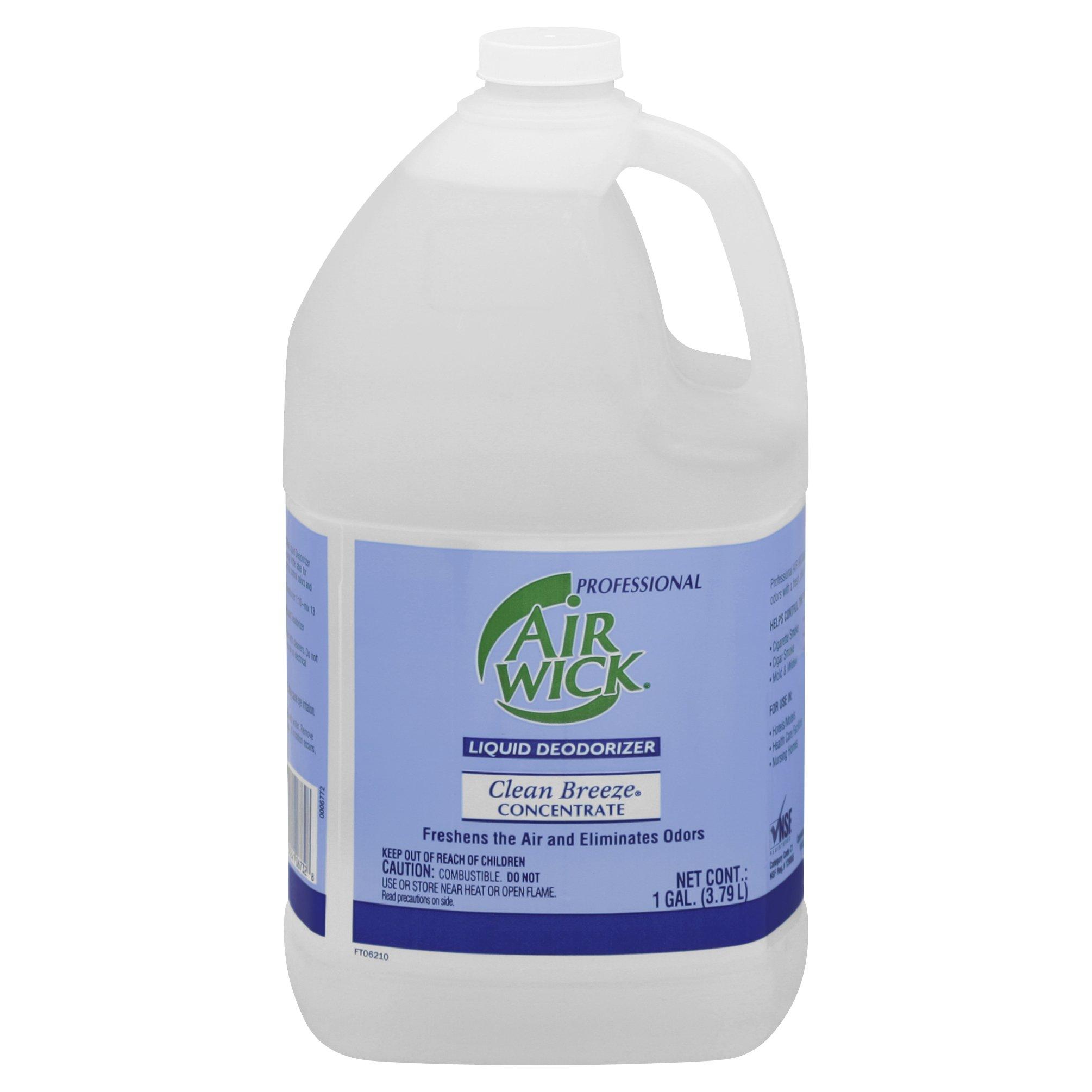 Air Wick Professional Liquid Deodorizer, Clean Breeze, 128 Ounce