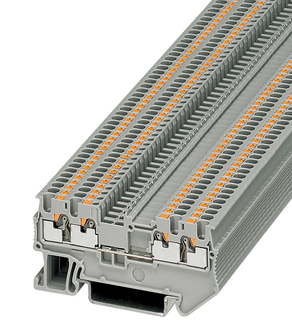 Phoenix Contact 3208100 grau 50 Stück Durchgangsklemme Reihenklemme PT 1,5//S