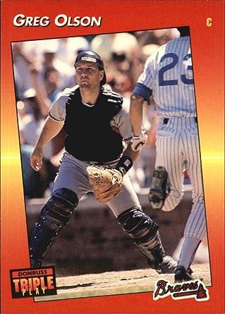 Amazon Com 1992 Triple Play Baseball Card 54 Greg Olson Collectibles Fine Art