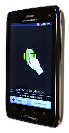 amazon com motorola droid 4 xt894 4g lte black verizon wireless rh amazon com Motorola Droid 4 Release Motorola Smartphones Verizon