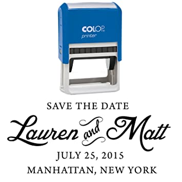 EMAILED Self Inking Rubber Stamp Blue Ink Office Custom Colop Stamper Printtoo