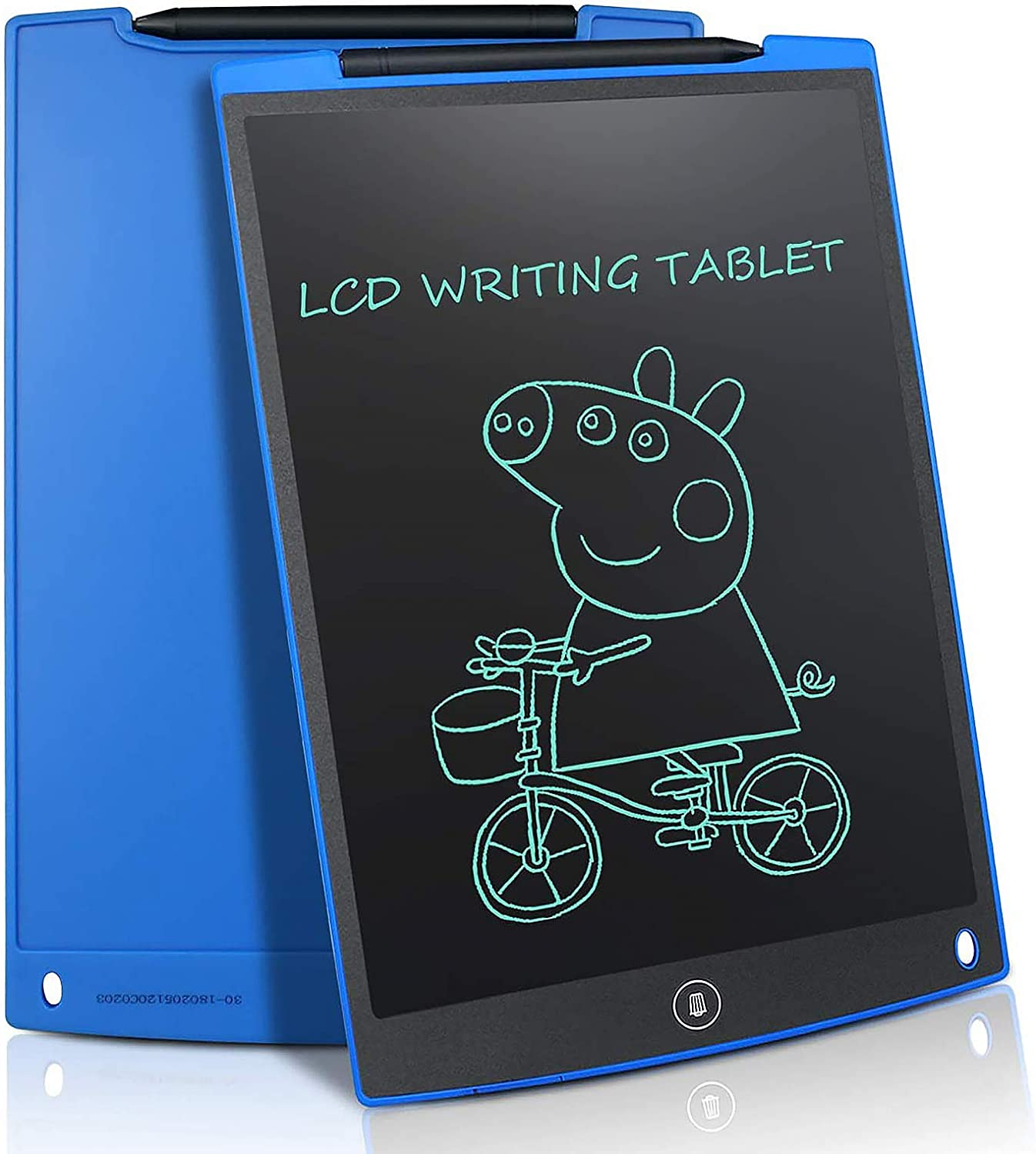 Digital Handwriting Colorful Screen Drawing Tablet Thick Lines Intelligent Paper Doodle Board for Kids-Blue JRMU 12-inch LCD Portable Electronic Writing Tablet