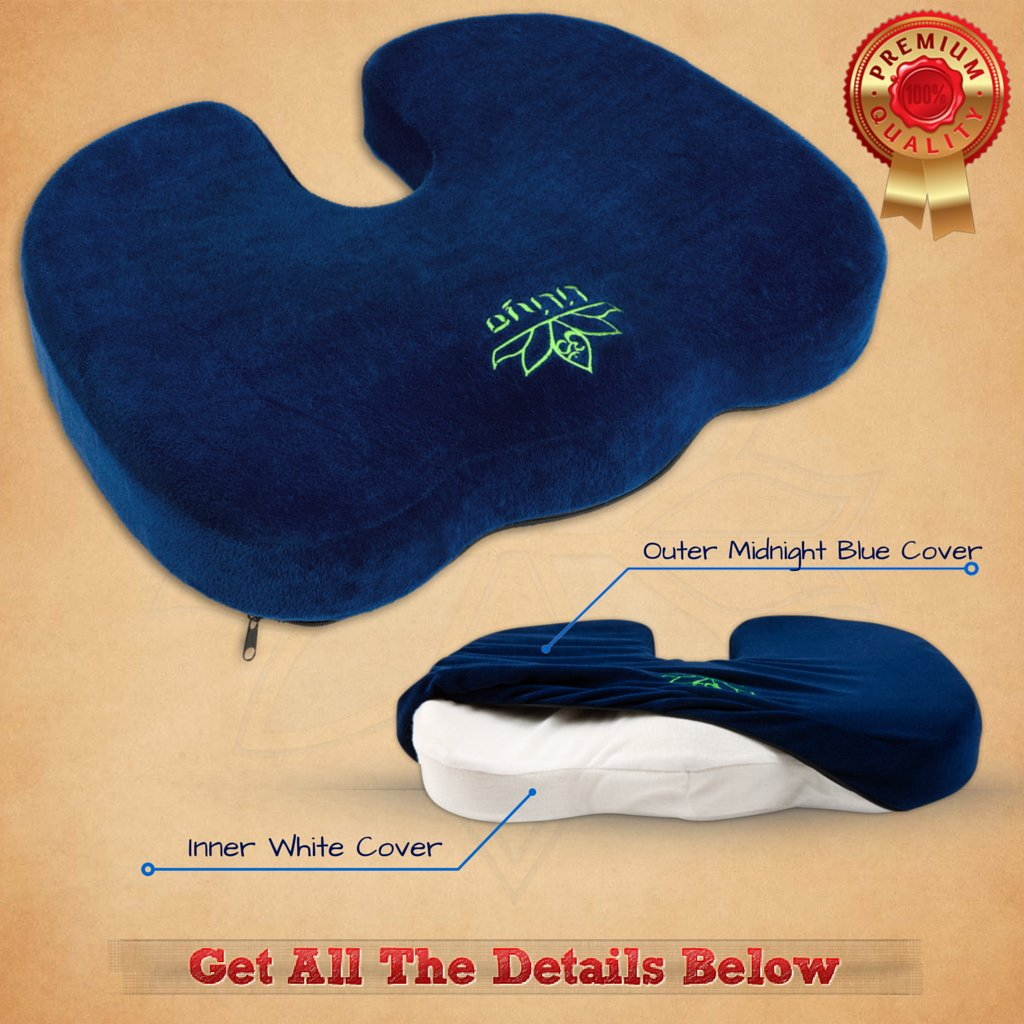 mobility centre coccyx orthopaedic premium dims cushion wedge product pillow