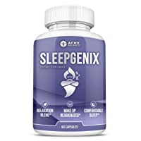 SleepGenix New Sleep Aid for Adults [10x Strength] Bedtime Relief Blend for Rest & Recovery   Non Habit Forming w/ St. John's Wort, Valerian Root, GABA, Chamomile, Magnolia, Ashwagandha (60 ct)