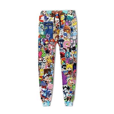 Fashion Unisex Brand Trousers Cartoon 3D Print Unisex Hip Hop Casual Pants