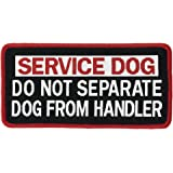 """DO NOT SEPARATE DOG FROM HANDLER Service Dog Woven Patch (Large VELCRO (2""""x4""""))"""