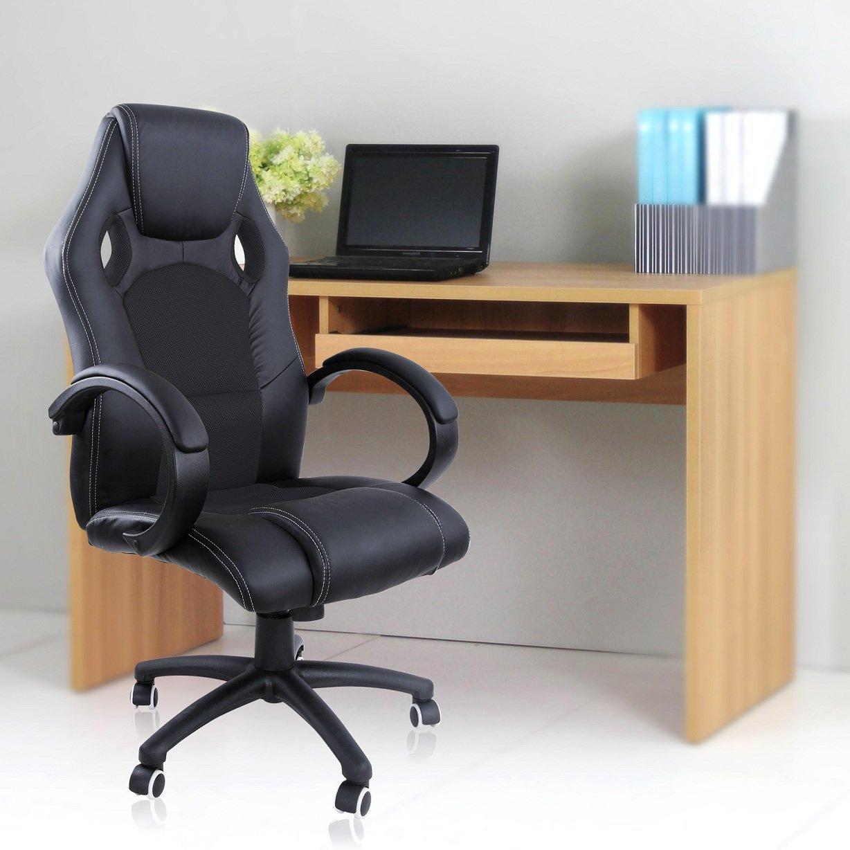 Songmics 119-129 cm Racing silla para oficina con respaldo alto ...