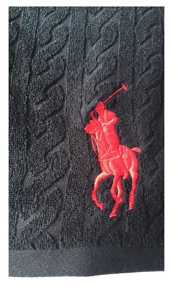Ralph Lauren Juego de Toallas de Polo Negro Big Pony baño Invitados TV6, Talla única: Amazon.es: Hogar
