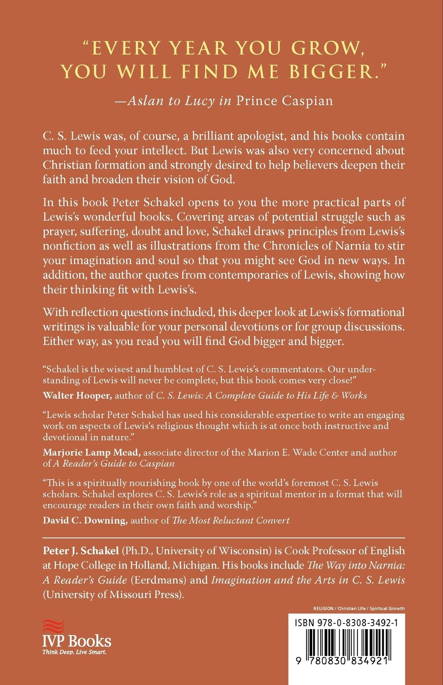 Amazon.com: Is Your Lord Large Enough?: How C. S. Lewis Expands Our View of  God (9780830834921): Peter J. Schakel: Books
