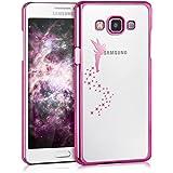 kwmobile Elegante y ligera funda Crystal Case Diseño hada para Samsung Galaxy A5 (2015) en rosa fucsia transparente