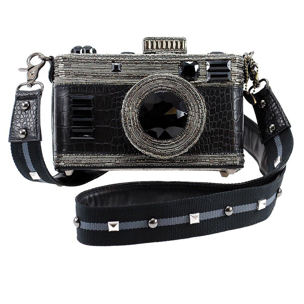 MARY FRANCES Freeze Frame Embellished Camera Cross-body Handbag