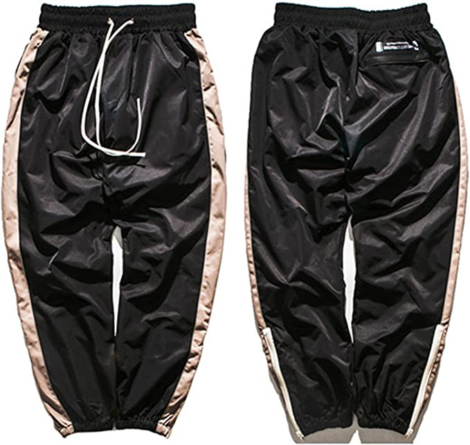 Hip Hip Baggy Pant Men Harajuku Jogger Sweatpant Side Striped Pants Streetwear Patchwork Casual Track Sweat Trousers
