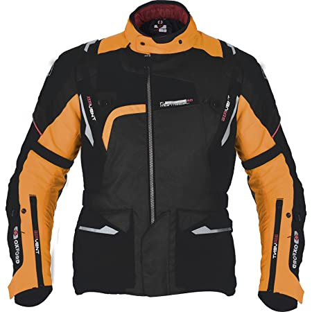 Chaqueta de motorista Oxford. , TM143S, Black Orange: Amazon ...