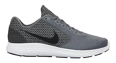 new style 7e69a a508d Nike Revolution 3, Chaussures de Course Homme, Gris (Cool Grey Black-