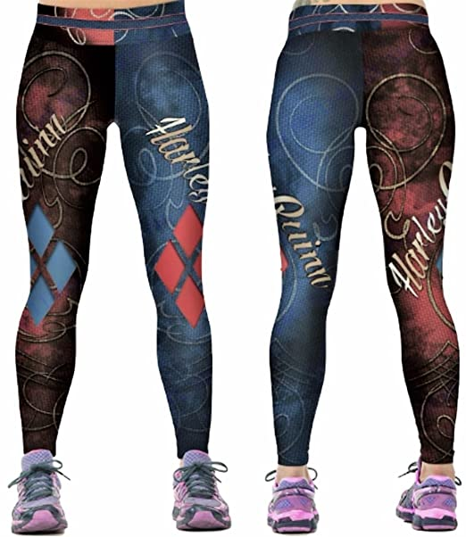 96992bee8 Image Unavailable. Image not available for. Color: Harley Quinn Suit Up Yoga  Pants ...