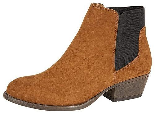 Botines para mujer con tacón de Lora Dora, tallas 37 a 43: Amazon.es: Zapatos y complementos