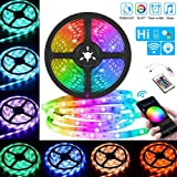 LED Strip Light Kit RGB Smart WIFI TV Backlight 5 Meter Compatible with Alexa and Google Home Multi Color for Kitchen Table Theater Laptop PC Monitor Holiday