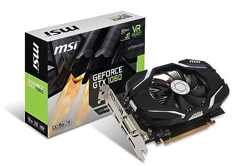 MSI GTX 1060 6G OC GeForce GTX 1060 6GB GDDR5 - Tarjeta gráfica (NVIDIA, GeForce GTX 1060, 4096 x 2160 Pixeles, 1544 MHz, 1759 MHz, 6 GB)