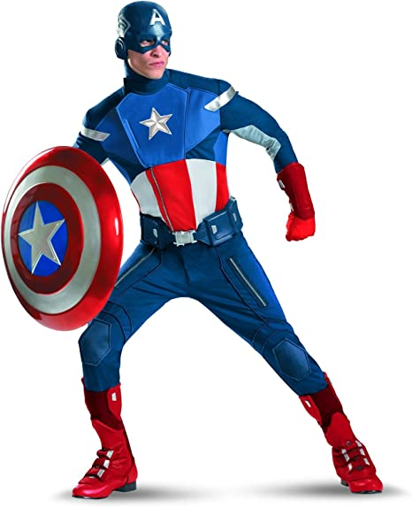 Disfraz The Avengers Captain America Traje Elite adultos X-Large ...